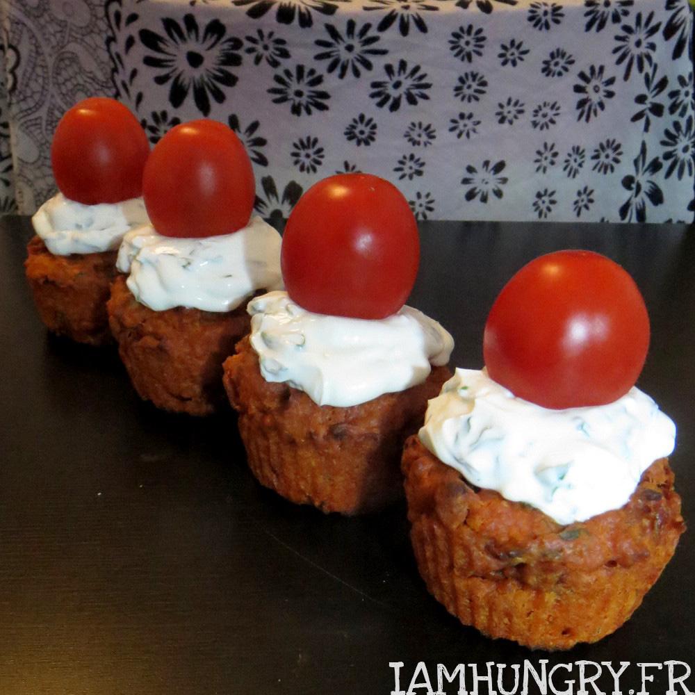 Cupcake tomates basilic