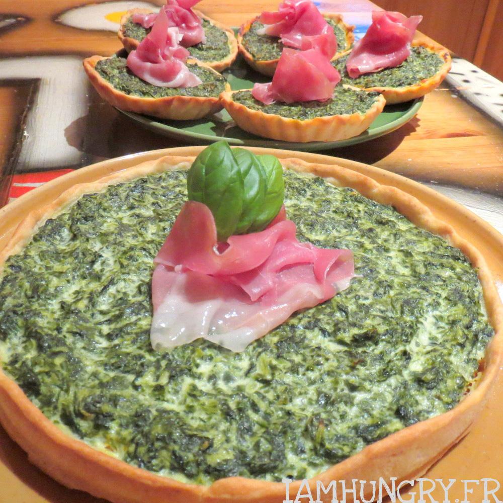 Tarte épinards et pesto rosso