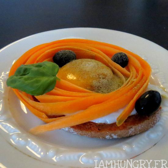 Tartine de carottes sur son oeuf
