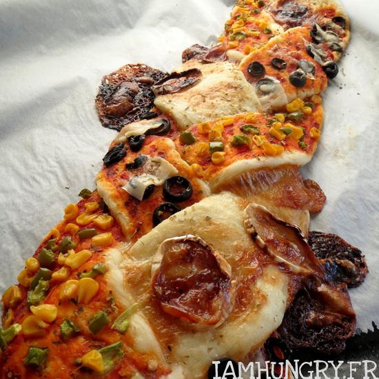 Pizza tressée