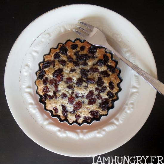 Tartelette aux raisins et noisettes