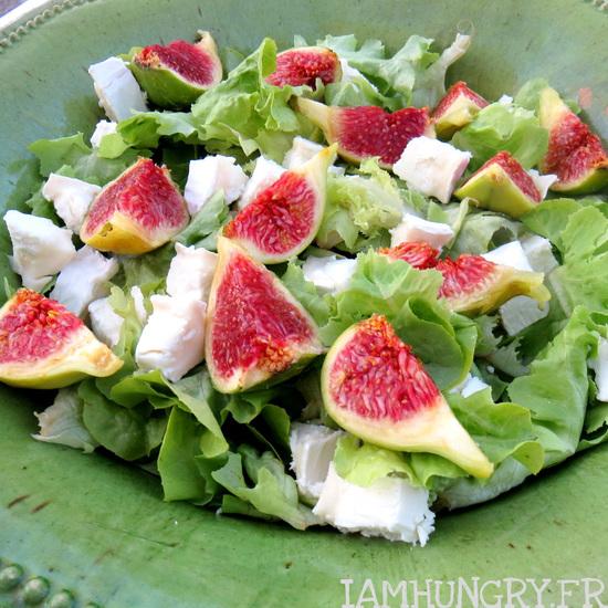 Salade d'été chèvre et figues