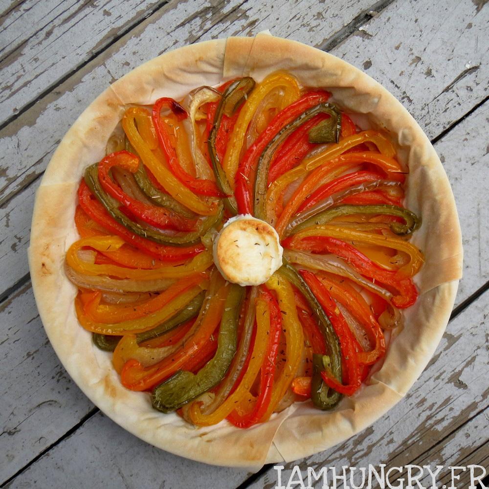 Tarte filo aux poivrons