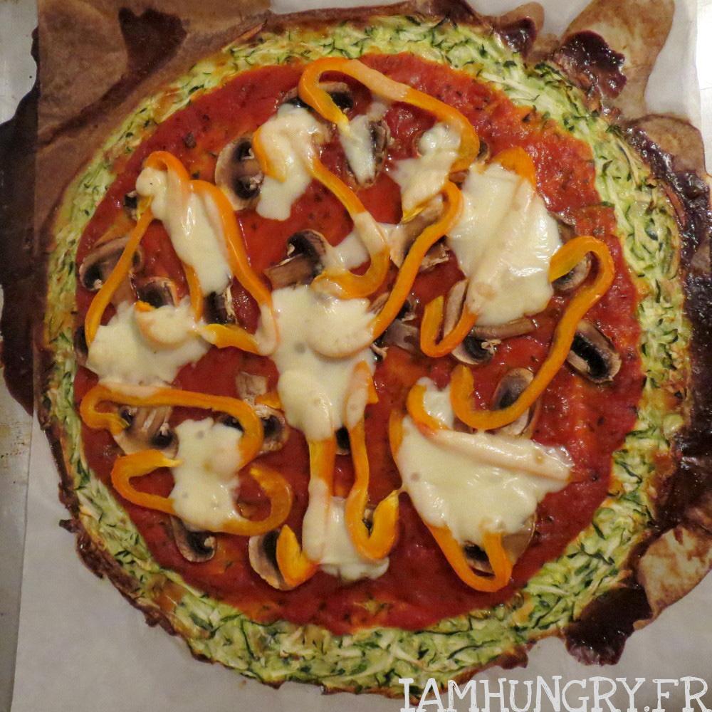 Pizza en pâte de courgette
