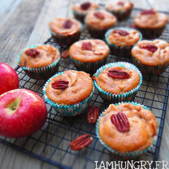 Muffins pommes pacanes au sirop d'érable