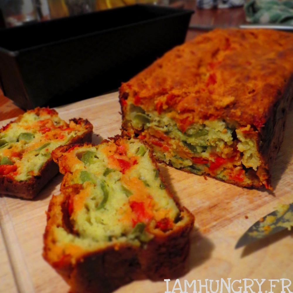 Cake marbré aux 2 poivrons