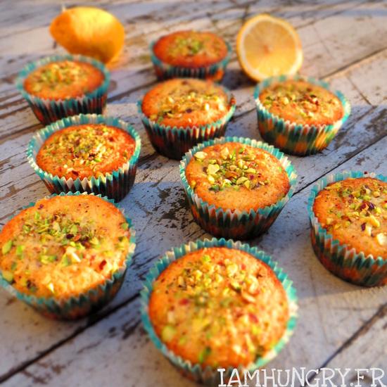 Muffins moelleux citron et pistache