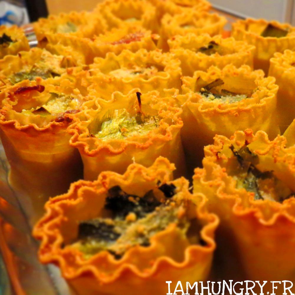Fleurs de lasagnes au poireau