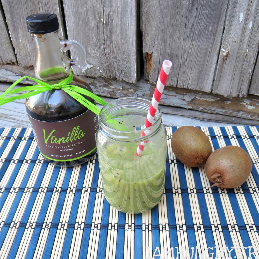 Smoothie kiwi banane vanille