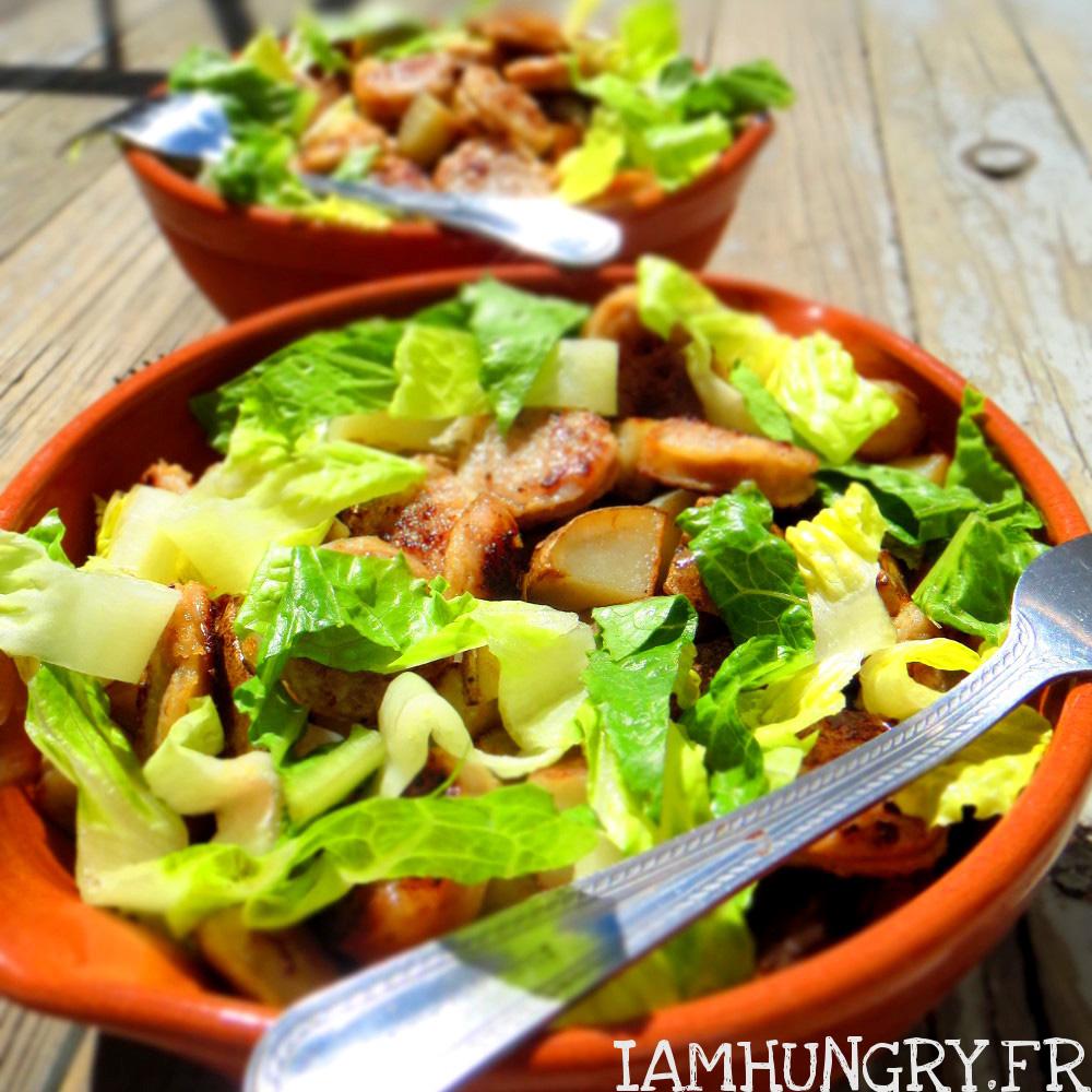 Salade de saucisses et pommes de terre