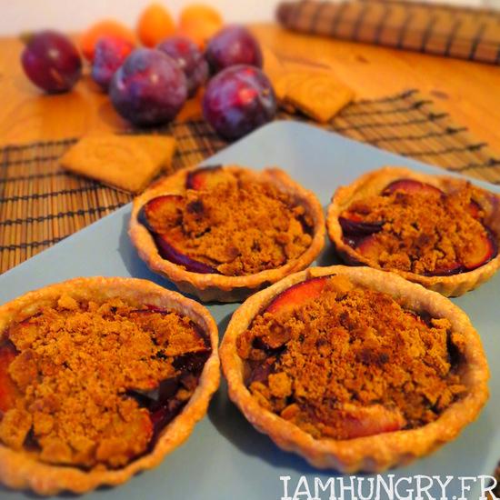 Tartelettes aux prunes façon crumble
