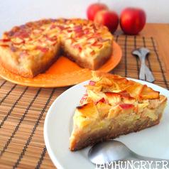 Tarte flan sp%c3%a9culoos pomme amande