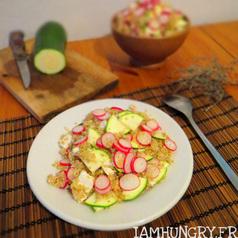 Salade quinoa radis courgette