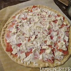Pizza chevre peche5