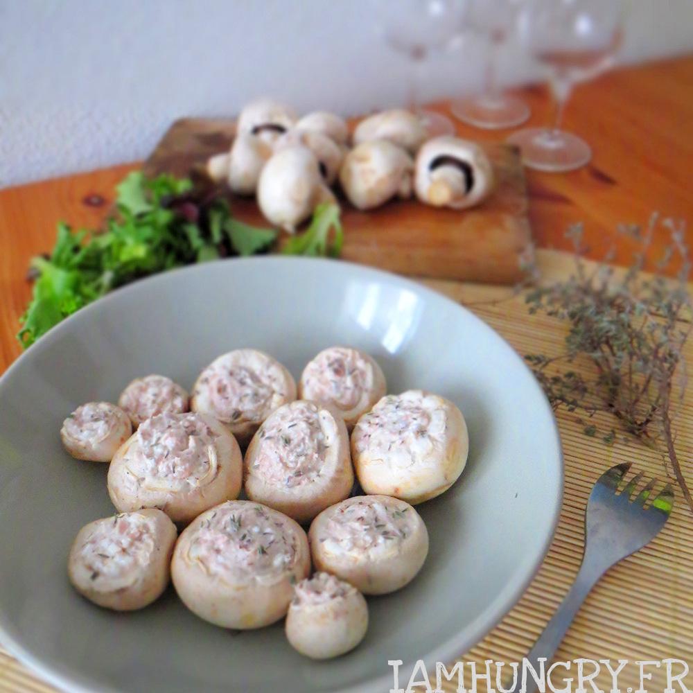 Petits champignons à la crème de thon