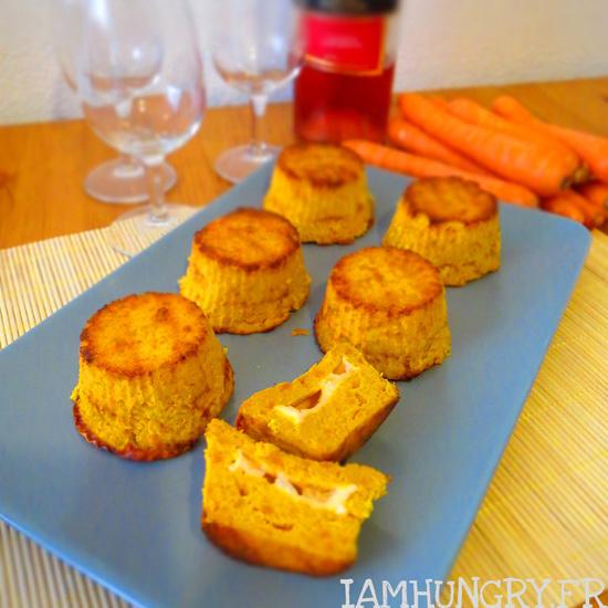Flans de carottes au chèvre