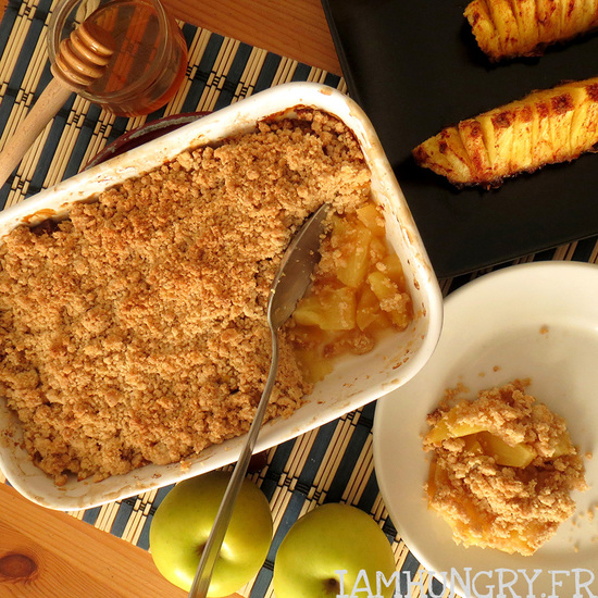 Crumble pommes et ananas