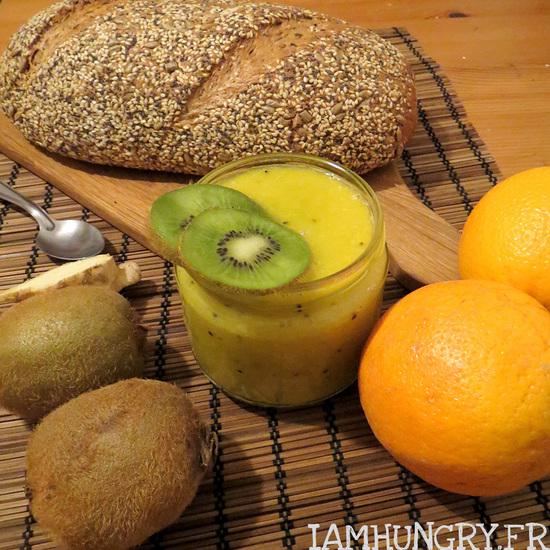 Smoothie orange kiwi et gingembre
