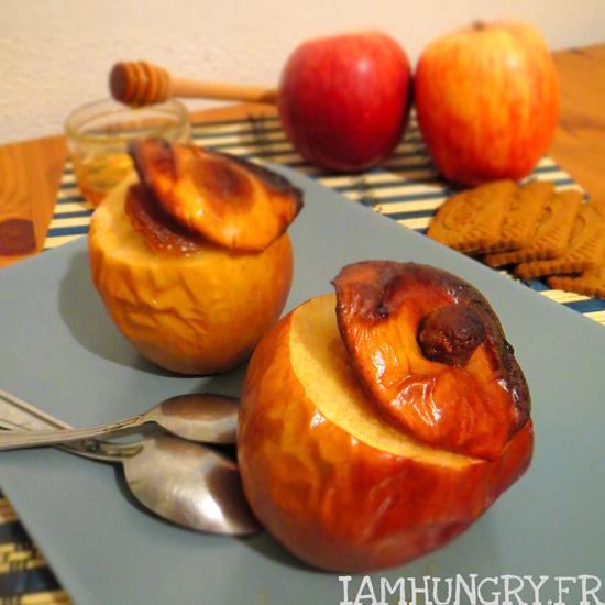 Pommes au four farcies aux spéculoos
