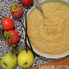 Compote pommes kaki vanille