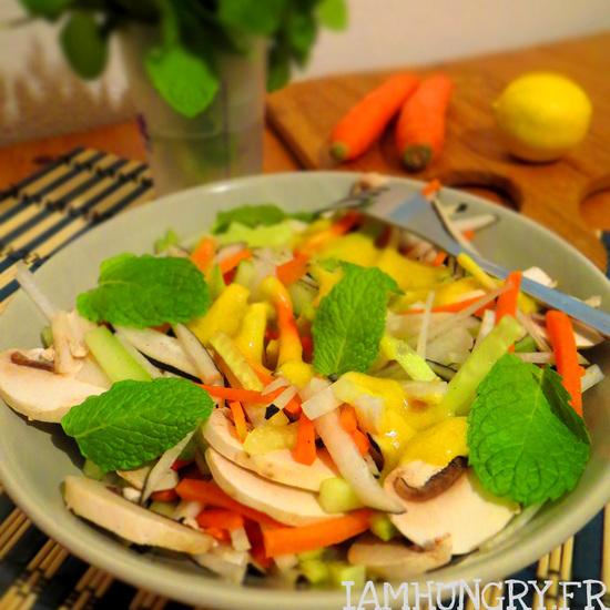 Salade de crudités hivernale