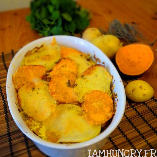 Gratin de courge et de pommes de terre