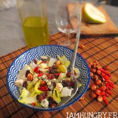 Salade endive poire roquefort