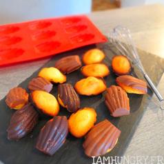 Madeleines coque en chocolat
