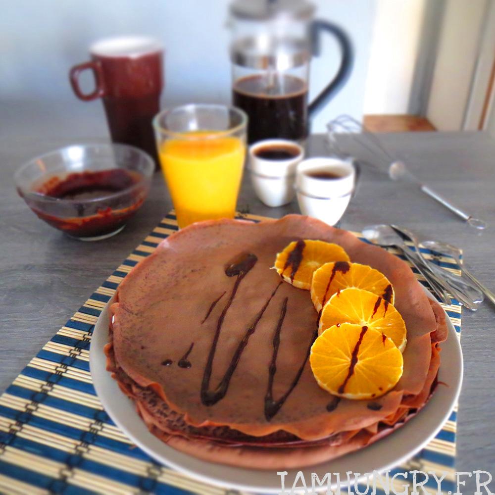 Crêpes au chocolat