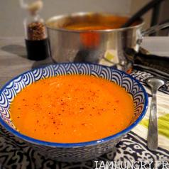Soupe courge orange carotte