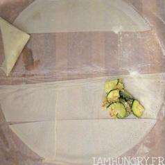 Samoussas courgette parmesan 6