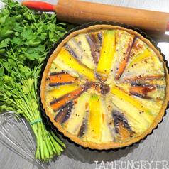 Tarte aux carottes multicolores 1