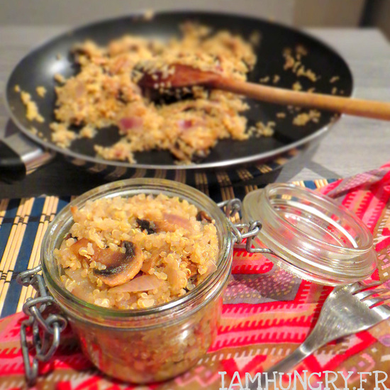 Quinoazotto aux champignons et à la moutarde