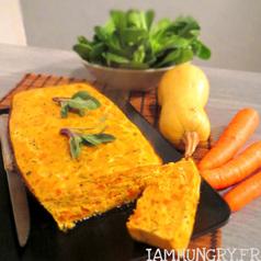 Cake courge carotte