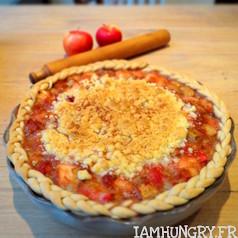 Tarte crumble pommes et rhubarbe 1