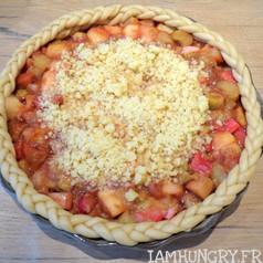 Tarte crumble pommes et rhubarbe 2