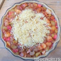 Tarte crumble pommes et rhubarbe 3
