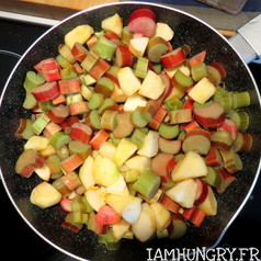 Tarte crumble pommes et rhubarbe 7