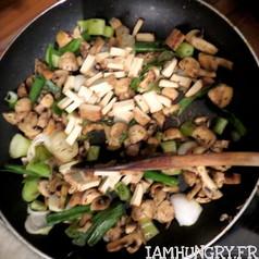 Quiche champignons oignons verts et tofu fume 3