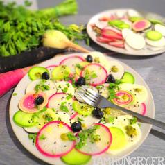 Salade de radis multicolors mozza 1