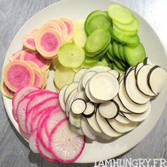 Salade de radis multicolors 2