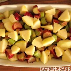 Crumble pommes rhubarbe 3