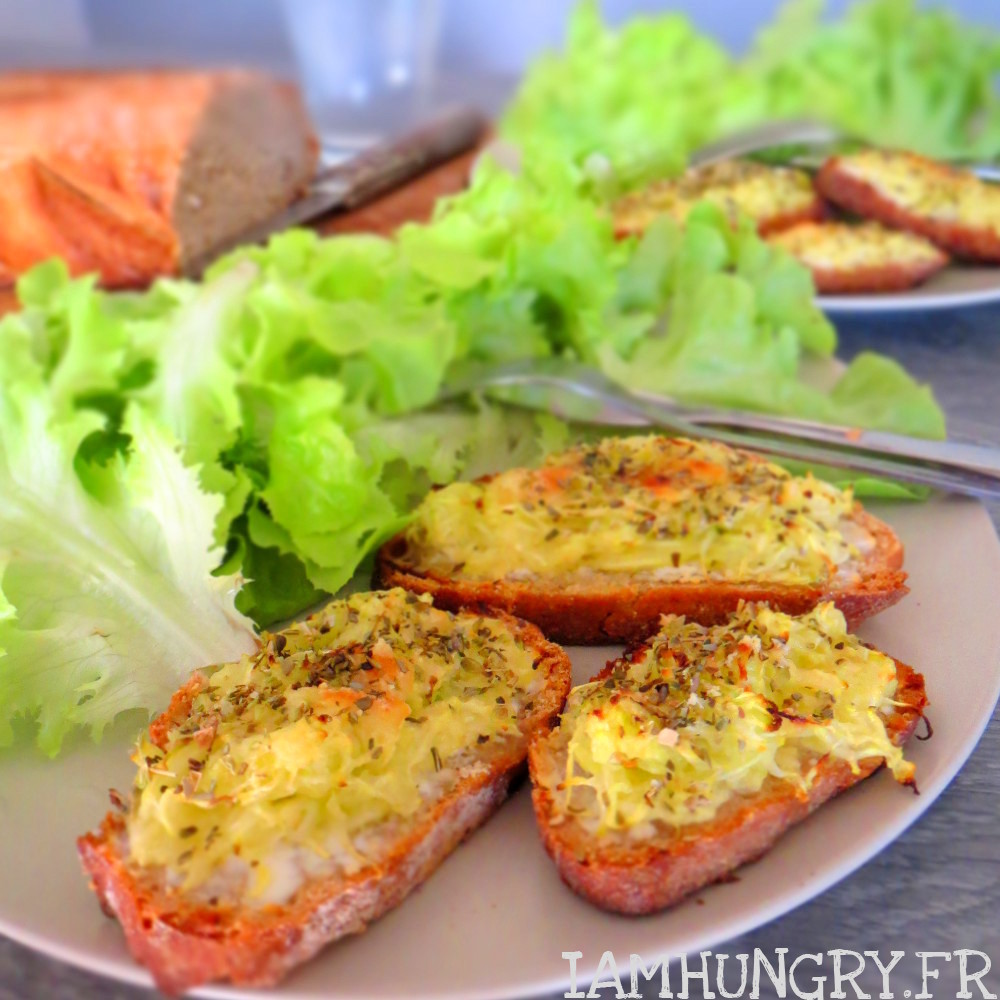 Tartines de courgettes grill es au four iamhungry - Chataignes grillees au four ...