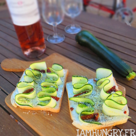 Tartines de courgette