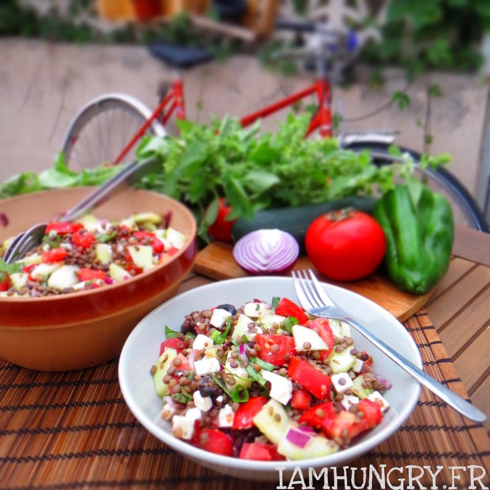 Salade de lentilles à la greque