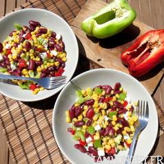 Salade de haricot rouges