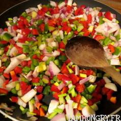 Risotto aux poivrons et parmesan vegetal 3