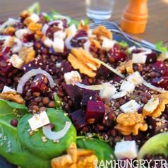 Salade lentilles betteraves