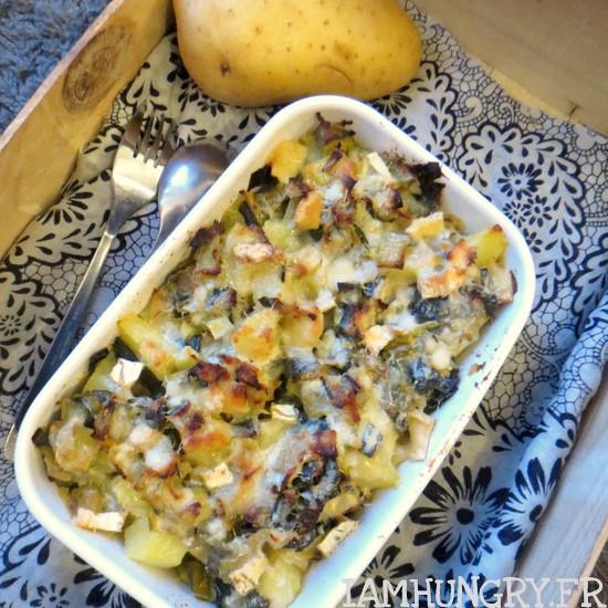 Gratin de poireaux pommes de terre et féta