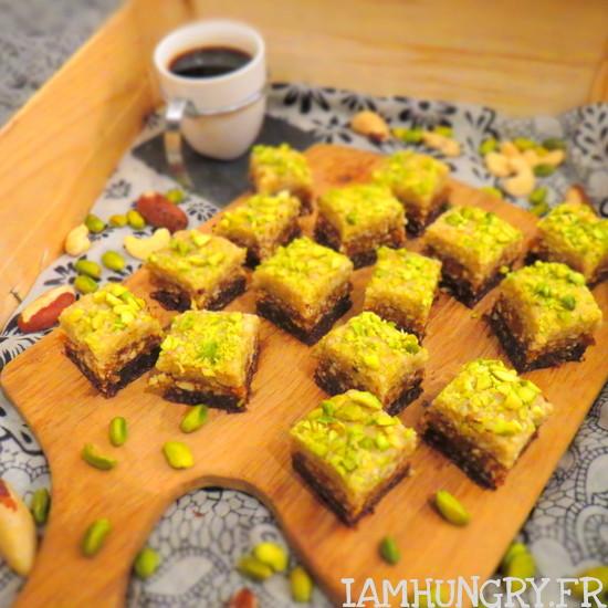 Petits carrés desserts crus